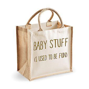 Medium Jute Bag Baby Stuff I Used To Be Fun Natural