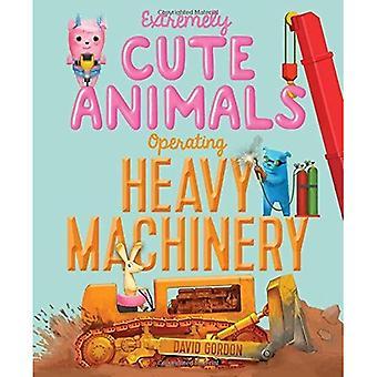 Extremt söta djur använder tunga maskiner