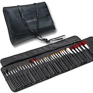 34 st Luxury Professional Cosmetic Make Up Brush Kit Set Bag