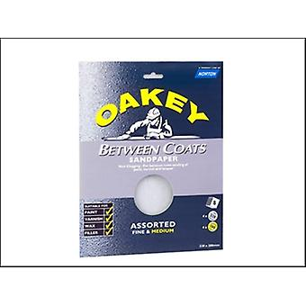 Oakey Between Coats Silicon Carbide Sheets 230 x 280mm Assorted (8)