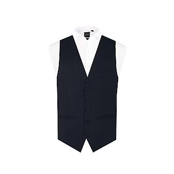 Dobell Herre Navy vest Fit Regular 5 knap
