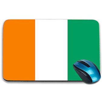 i-Tronixs - Cote dIvoire Flag Printed Design Non-Slip Rectangular Mouse Mat for Office / Home / Gaming - 0042