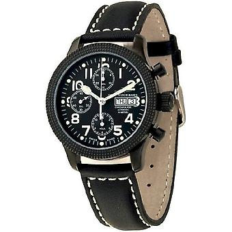 Zeno-Watch Herrenuhr NC Clou de Paris Chrono black 11557TVDD-bk-a1