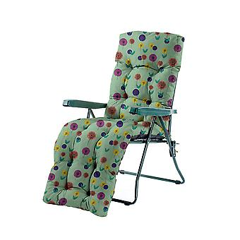 Gardenista® Water Resistant Spots Green Print Tufted Relaxer Chair Cushion