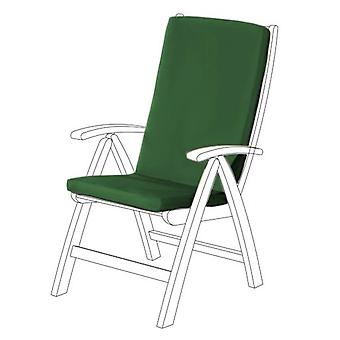 Gardenista® Green Water Resistant Highback Seat Pad for Garden Chair, Pack of 2