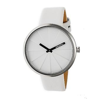 Simplify The 4000 Leather-Band Watch - White