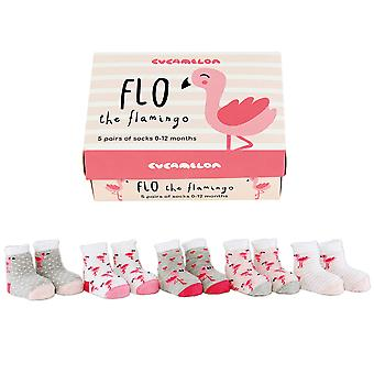 Cucamelon Baby Flo The Flamingo Socks Gift Set