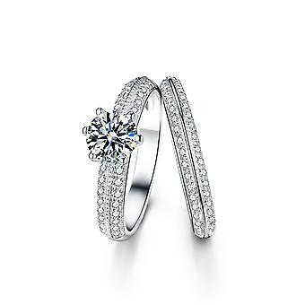 925 Sterling Silver Knife Edge Engagement Ring