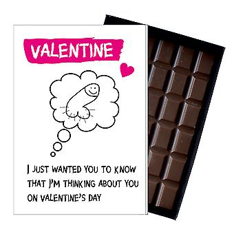 Funny Valentines Day Gift For Boyfriend Husband Man Rude Chocolate Greeting Card Present ODV212