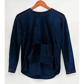 Cuddl Duds Women's Petite Sleepshirt PXS Fleecewear Stretch Novelty Blue A342052