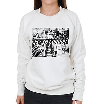 Flash Gordon Submarine Comic Montage Women's Sweatshirt