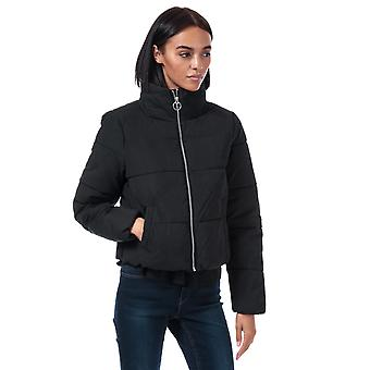 Womens Only Dina Quilted Puffer Jacket in Black