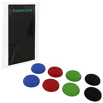 Tpu protective analogue thumb grip stick caps for sony ps4 controllers - mixed colour mega pack