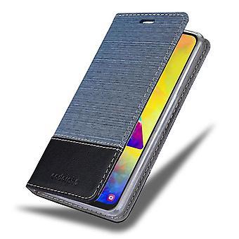 Cadorabo Hülle für Samsung Galaxy M20 Case Cover - Handyhülle mit Magnetverschluss, Standfunktion und Kartenfach – Case Cover Schutzhülle Etui Tasche Book Klapp Style