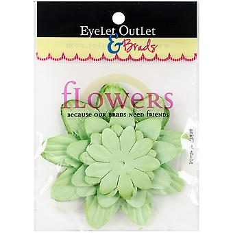 Eyelet Outlet Flowers 40/Pkg-Green367 FLW-F5A