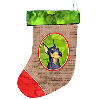 Carolines Schätze SS2044-CS Dobermann Christmas Stocking SS2044