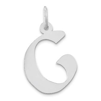 Charm in argento Sterling medie Artisian blocco iniziale G -. 5 grammi
