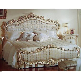 baroque bed  double bed  180x200 sleeping room antique style   Vp7712Q  headteil fabric Nr. 285-01 Ausführung in 01A