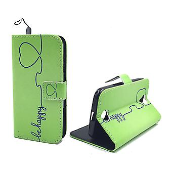 Mobile phone case pouch for mobile Acer liquid Z330 be happy Green