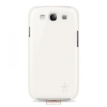 Belkin F8M402cwC03 Snap Shield Cover Case Samsung Galaxy S3 i9300 weiss