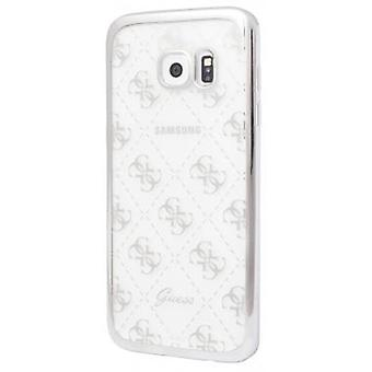 Guess Hard Cover case transparent / silver for Samsung Galaxy S7
