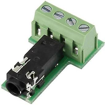 3.5 mm audio jack Socket, horizontal mount Number of pins: 4 Stereo Black Conrad Components PJ3.5-4TB-1 1 pc(s)