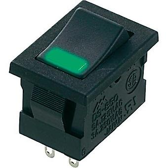 Toggle switch 250 Vac 3 A 1 x Off/On Miyama DS-850-K-F1-LG latch 1 pc(s)