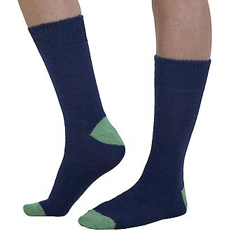 Taylor men's warm Alpaca bed socks in navy | English made by J. Alex Swift