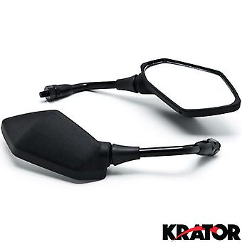 Black Replacement Mirrors For Kawasaki Z1000 Z750 Versys KLE 650 ZRX1100 ZRX1200