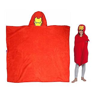 Marvel Avengers Iron Man Red Hooded Cuddle Blanket 120cm x 80cm