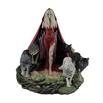 Heulen von Ruth Thompson Twisted Tales Red Riding Hood w/Wölfe Statue