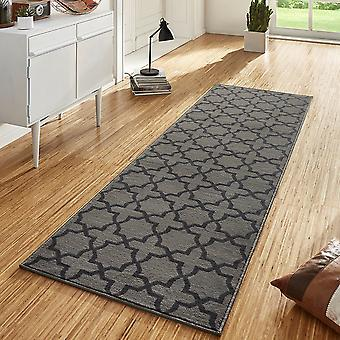Conception velours tapis chemin pont Glam gris