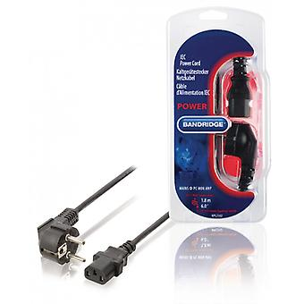 Bandridge Schuko power cord Type F (CEE 7/4)-IEC-320-C13 Black