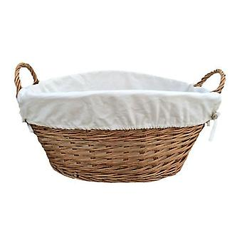 Light Steamed Laundry Baskets with White Lining