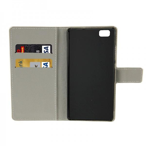 Pocket wallet premium pattern 7 for Huawei Ascend P8 Lite