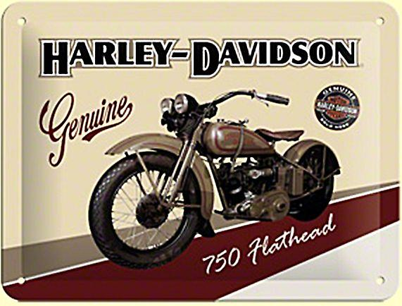 Harley Davidson 750 Flathead metal sign 200mm x 150mm   (og)