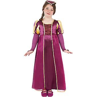Queen costume noblewoman Tudor Queen child costume