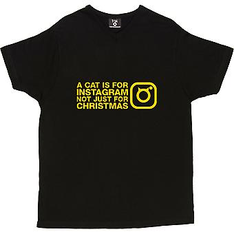 En katt er For Instagram, ikke bare For Christmas menn t-skjorte