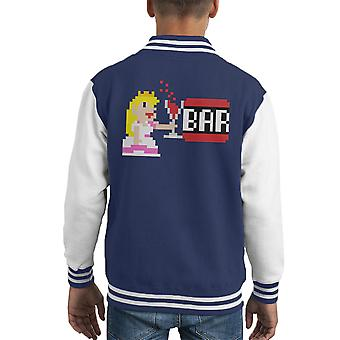 An der Bar Prinzessin Super Mario Kid Varsity Jacket