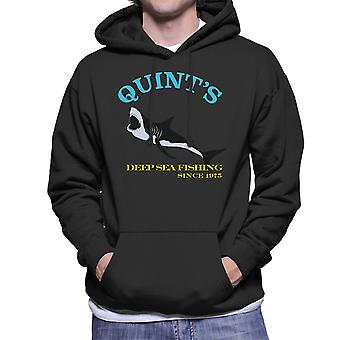 Quints Deep Sea Fishing sinds 1975 kaken mannen Hooded Sweatshirt