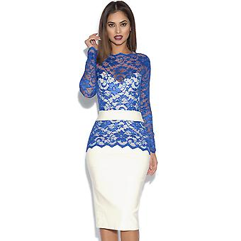 Tempest Two Tone Billie Lace Midi jurk