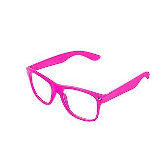 Retro Vintage färg Unisex Punk Geek Wayfare stil noll antal klarglas glasögon Eyewear