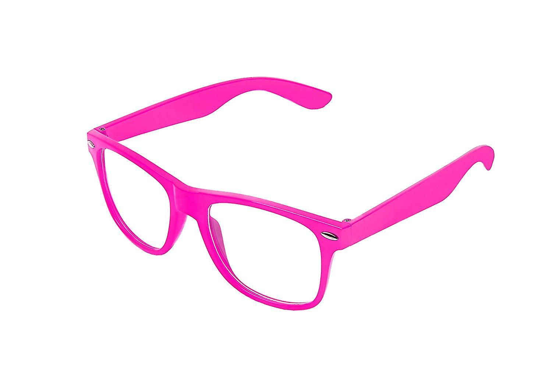 Retro Vintage Colour Unisex Punk Geek Wayfare Style Zero Number Clear Lens Glasses Eyewear