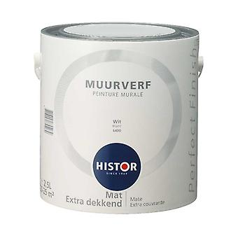 Histor Perfect Finish muurverf mat wit 6400 2,5 l