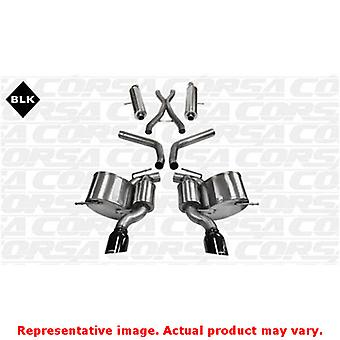CORSA Performance Cat Back Exhaust 14466BLK Black Fits:JEEP 2012 - 2013 GRAND C