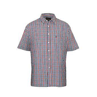 Herren Meister Land Stil Casual Check kurzen Ärmeln Polycotton Shirt