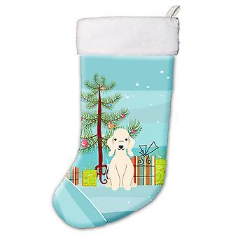 Merry Christmas Tree Bedlington Terrier Sandy Christmas Stocking