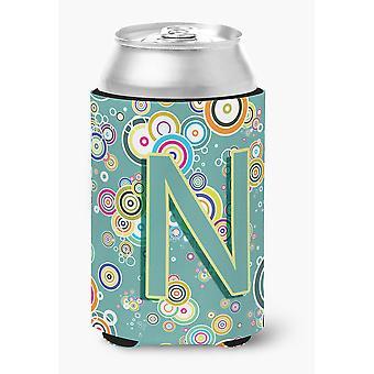 Письмо N круг круг чирок Первоначальный алфавит может или бутылка Hugger