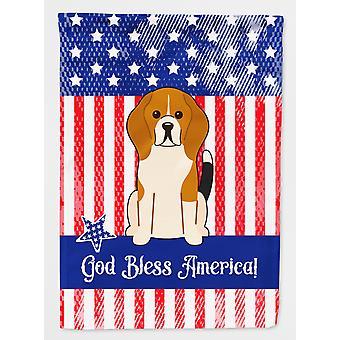Patriotic USA Beagle Tricolor Flag Canvas House Size