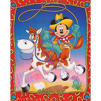 Mickey Mouse Giddy Up Poster Print by Walt Disney (16 x 20)